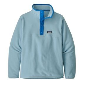 Patagonia fleece pullover boy's baby blue size XL